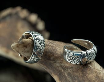 Silver Viking Ring Jewel Celtic Pagan Jewelry Jewellery Norse Art Style Borre