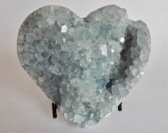Celestine Stone Heart (129)
