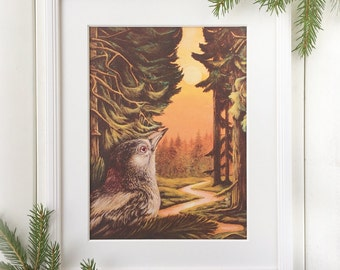Forest Whispers - Remarked Canvas Print