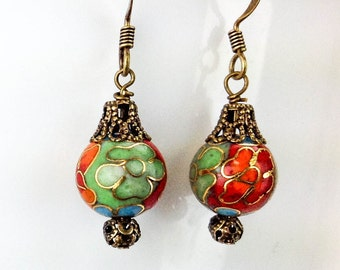 Clouseneaux Beaded Earrings with Vintage Style Design