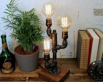 Triple table lamps