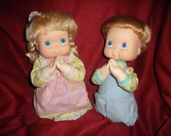 Praying Dolls by T C F C Boy and Girl 1987