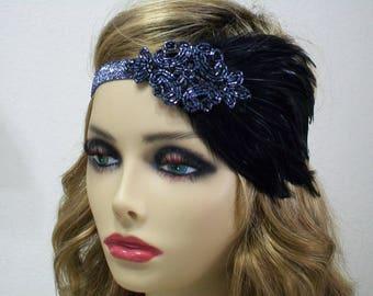 1920s Headband, Flapper Headband, 1920s Headpiece, Jazz Age, Flapper Fashion, Roaring 20s, 1920s Hair Accessory, Vintage Inspired