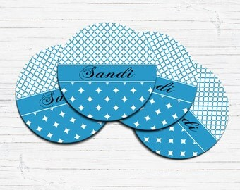 Personalized Coaster, Set of 2 Coasters, Monogram Coasters, Housewarming Gift, Custom Coasters, Drink Coaster, Personalized Coaster Set