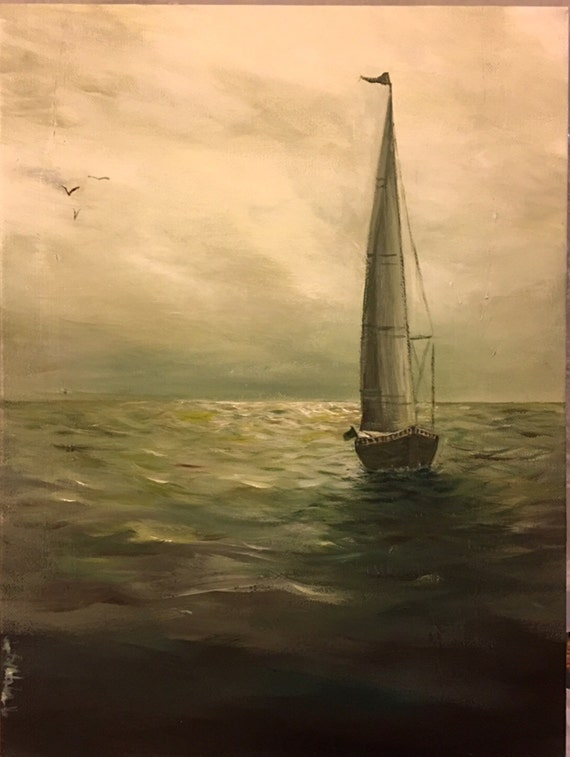 "ORIGINAL ART: ""Calm Sea"""