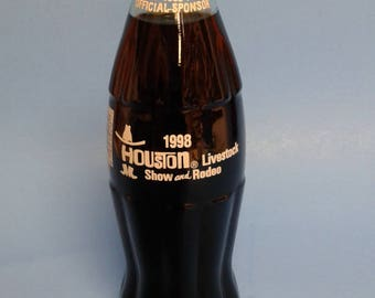 Coca Cola bottle Houston Livestock Show and Rodeo 1998 Collectible bottle Coke bottle Soda pop bottle FogartyTreasures