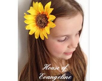Sunflower Hair Clips/Hair accessories/Pinup/Festivals.Ref:082