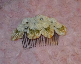 Hair comb, Flower hair comb, wedding hair accessory, wedding hair comb, Hair accessory, Custom Made to Order