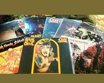 Ozzy Osbourne/Black Sabbath Vinyl Album Collection
