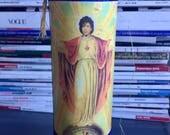 Saint Prince Prayer Candle Purple Rain Sacred Heart Catholic Mexican Celebrity