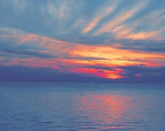 Florida Sunset Photography // Filtered Photo Print // Sunrise Photograph Print