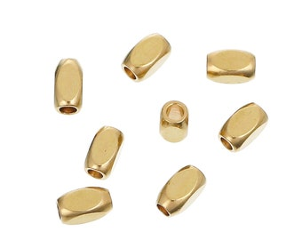 100pcs Brass Oval Tube Spacer Beads 4x2mm