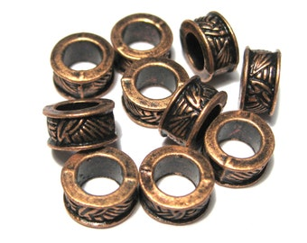 30pcs Antique Copper Metal Spacer Beads 8mm