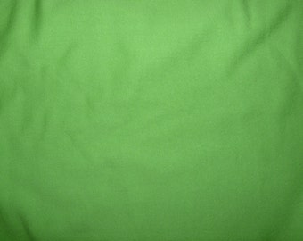SALE - Fabric - cotton sweatshirt jersey fabric - Bright green 1 metre with small mark.