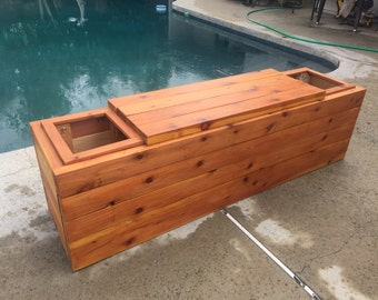 Redwood Bench Planter