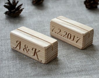 12 wood table number holders for wedding and party custom rustic table number holder