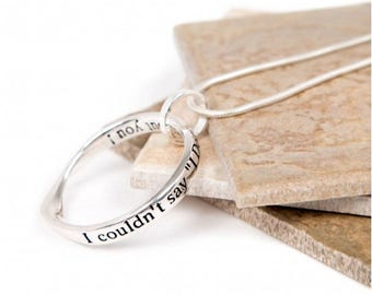 "Message slogan necklace perfect gift ( I couldn't say ""I Do"" without you!) - wedding necklace - Message Necklace"