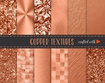 Copper Gold Foil Glitter Bokeh - Copper Foil - Copper Bokeh and Glitter - Commercial Use Bokeh Backdrop - Copper Textures - Copper Wallpaper