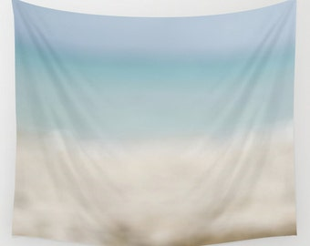Ocean Tapestry Wall Hanging Wall Decor, Abstract Ocean Art, Photography Wall Art, Beach House Decor, Large Wall Art Tapestry Beach Decor