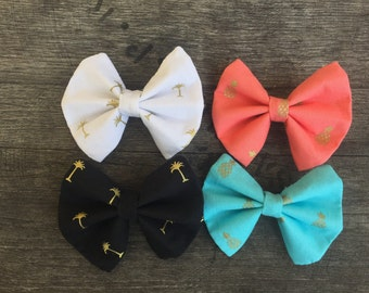 Summer Preppy Bow Pack with Pineapples and Palm Trees
