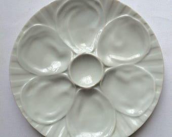 Vintage French Oyster Plate