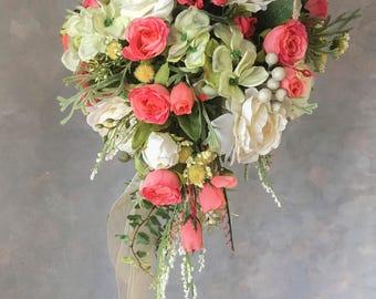 SILK FLOWERS WEDDING bouquets mix