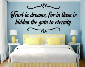 Trust In Dreams Inspiring Vinyl Decal Wall Sticker Decor Quote