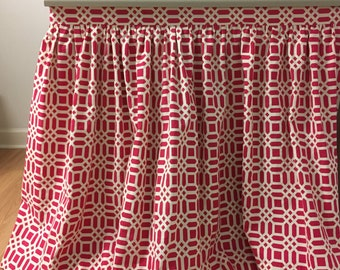 "Sink Skirt - custom Gathered - choose your own fabric and size - 47"" wide x 32 1/2"" long"