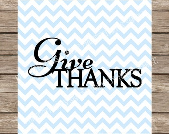 Give Thanks SVG Thanksgiving svg Fall svg Turkey svg Thankful Autumn svg Fall svg Cutting File Silhouette Cameo Cricut dxf png