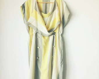 Vintage silk stripes dress