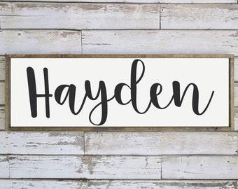 Framed Name Sign | Nursery | Kids | Family