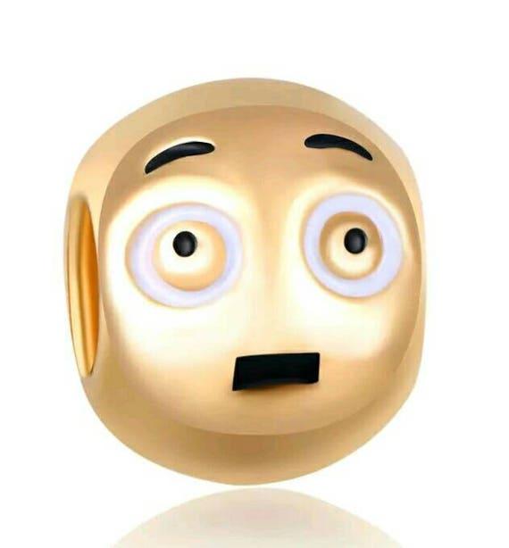 Surprised EMOJI charm with lovely enameled Faberge eggs ... Shocked Face Wave Emoji