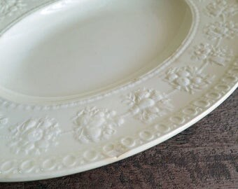 Wedgwood Wellesley Platter, Wedgewood China Pattern D93217, Etruria Barlaston Serving, Small Oval Platter