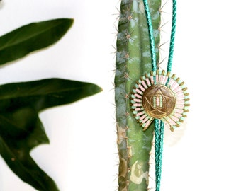 Bolo Saftety Pin Necklace