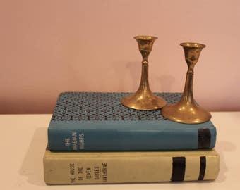 Midcentury Brass Candlesticks