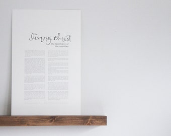 The Living Christ  |  Hand-Lettered  |  LDS Print  |  Calligraphy