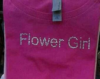 Flower girl Swarovski® Tshirt