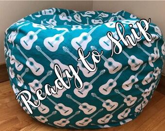 Bean Bag Chair Cover. READY to SHiP, Bean Bag Chair Reader's Nest. COVER ONLY. Beanbag chair.  Floor Cushion.  Stuffed Animal Storage