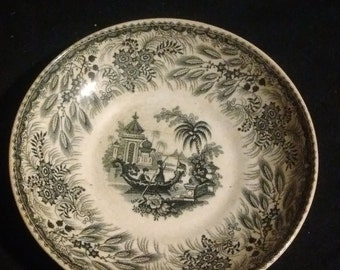 R Hall & Co , Bosphoros pattern bowl, 1841-1849