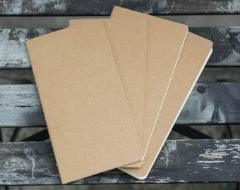 ADD-ONS - Pack of 4 Regular Size Notebook Refills (Midori Traveler's Notebook)