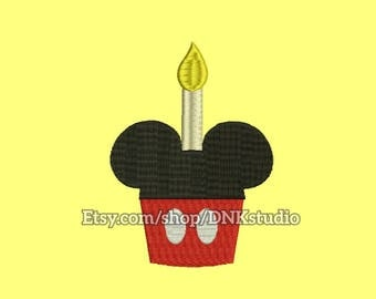 Mickey Mouse Cupcakes Embroidery Design - 6 Sizes - INSTANT DOWNLOAD
