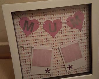 Mum Polaroid style photo frame - why not fill with mother-daughter photos for mothers day or a birthday gift for her