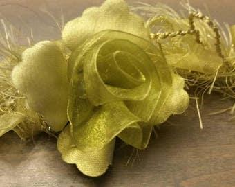 Floral and Chiffon Elastic Trim