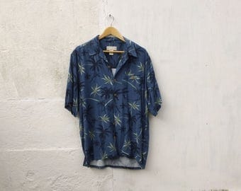 Vintage Hawaiian Over-size Shirt