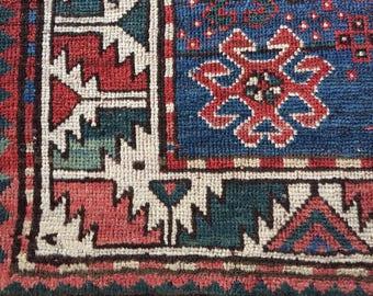 SALE Antique Kazak Caucasian Armenian tribal rug rare Collectible treasure Fine 19th Century 4x6