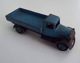 Vintage 1940's Meccano Dinky 25A Wagon Blue Wagon Toy Truck Lorry Collectable Toy