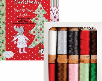 Aurifil Sugar Plum Christmas Collection for Sugar Plum Christmas Kit from Bunny Hill Designs for Moda Fabrics. AS8030SPC10