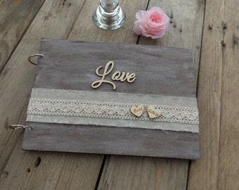 Wedding guest book 'Love' - Wedding, wedding decoration, bridal couple, wedding accessoire, guest book