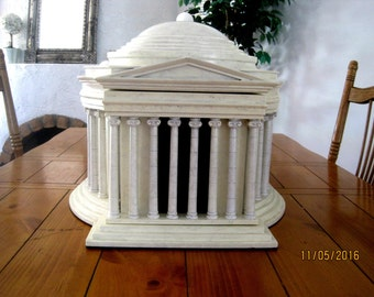 Jefferson Memorial Humidor Architectural Building Replica Political Gift-Montecristo  Holds over 100 cigars