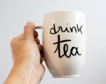 Cup of tea, quote the, drink tea, porcelain,.